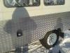 Кусок рифленого алюминиевого листа толщиной 3 мм
