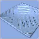 Лист алюминиевый рифленый на отрез